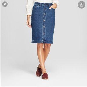 Universal Threads Button Front Denim Skirt